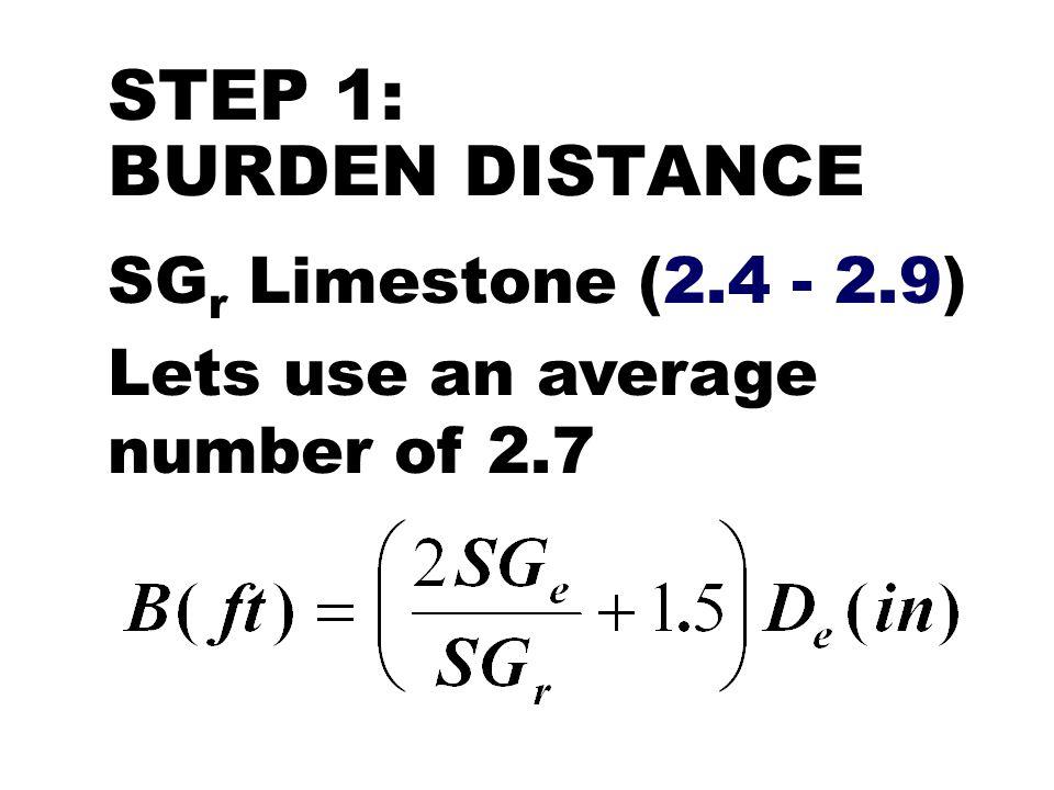 STEP 6: BLASTHOLE SIZE Bulk ANFO, explosive diameter and blasthole size are the same, i.e.