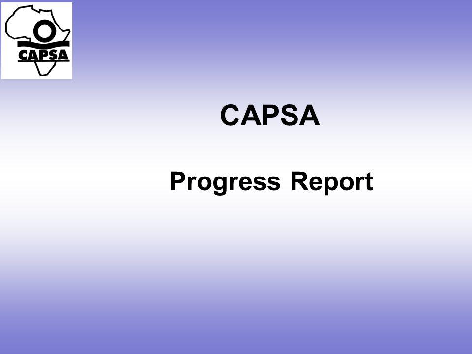 CAPSA Progress Report