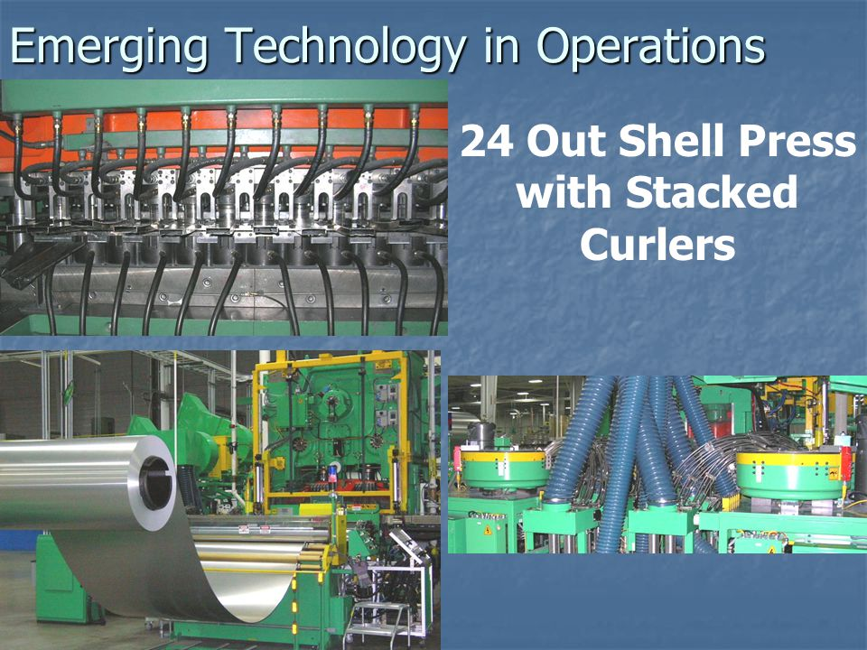 Emerging Technology in Operations 24 Out Shell Press with Stacked Curlers
