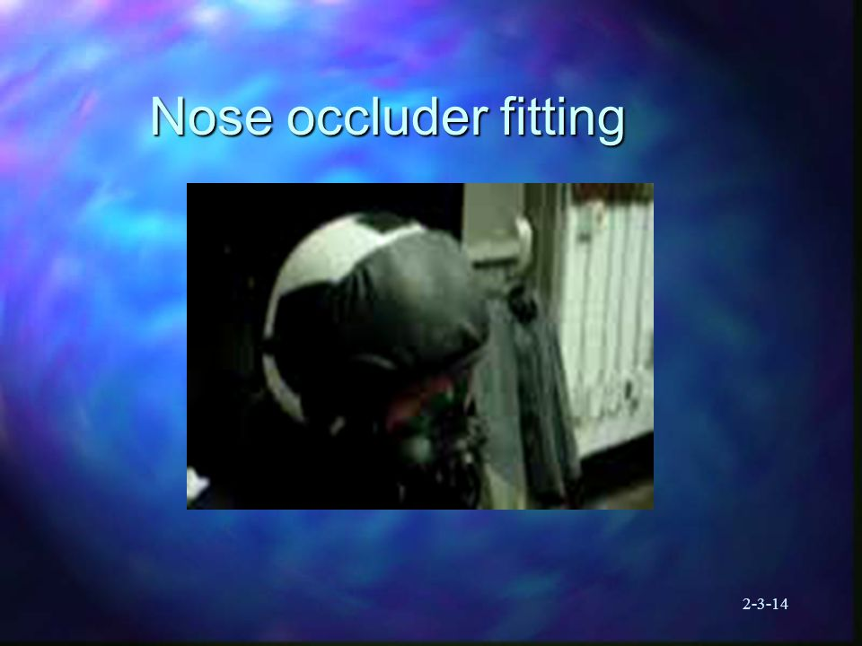 2-3-14 Nose occluder fitting