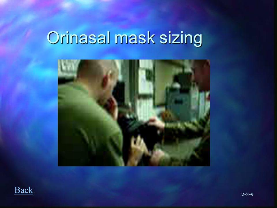 2-3-9 Orinasal mask sizing Back
