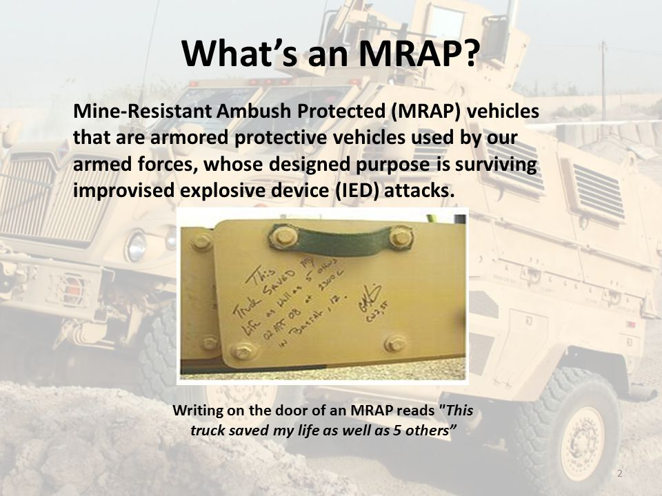 What's an MRAP.