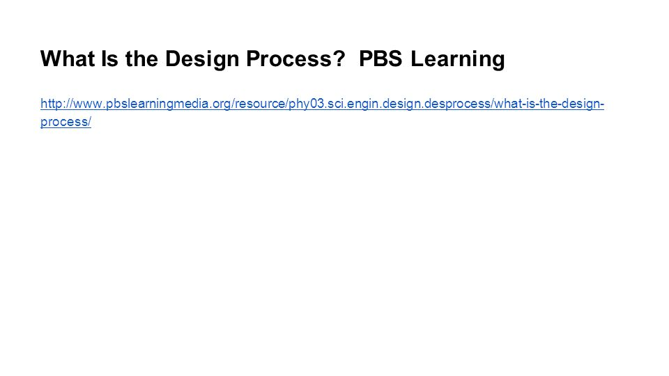 What Is the Design Process.