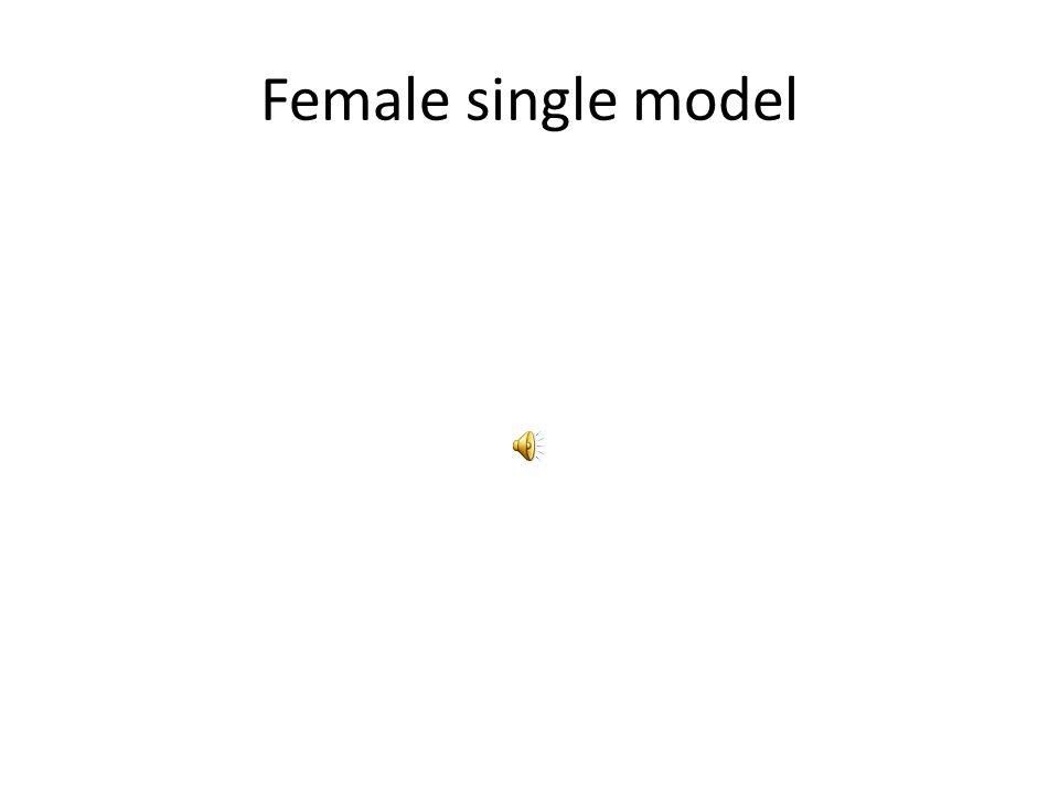 Male single model