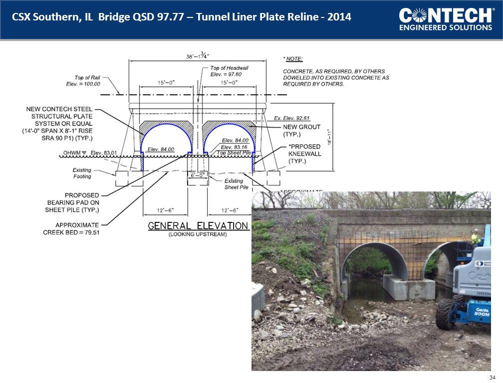 CSX Southern, IL Bridge QSD 97.77 – Tunnel Liner Plate Reline - 2014 34