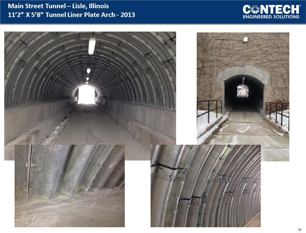 Main Street Tunnel – Lisle, Illinois 11'2 X 5'8 Tunnel Liner Plate Arch - 2013 38