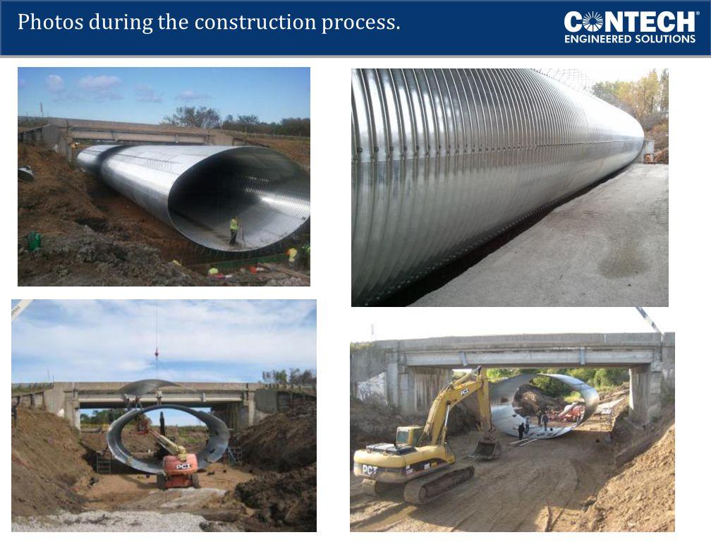 Photos during the construction process.