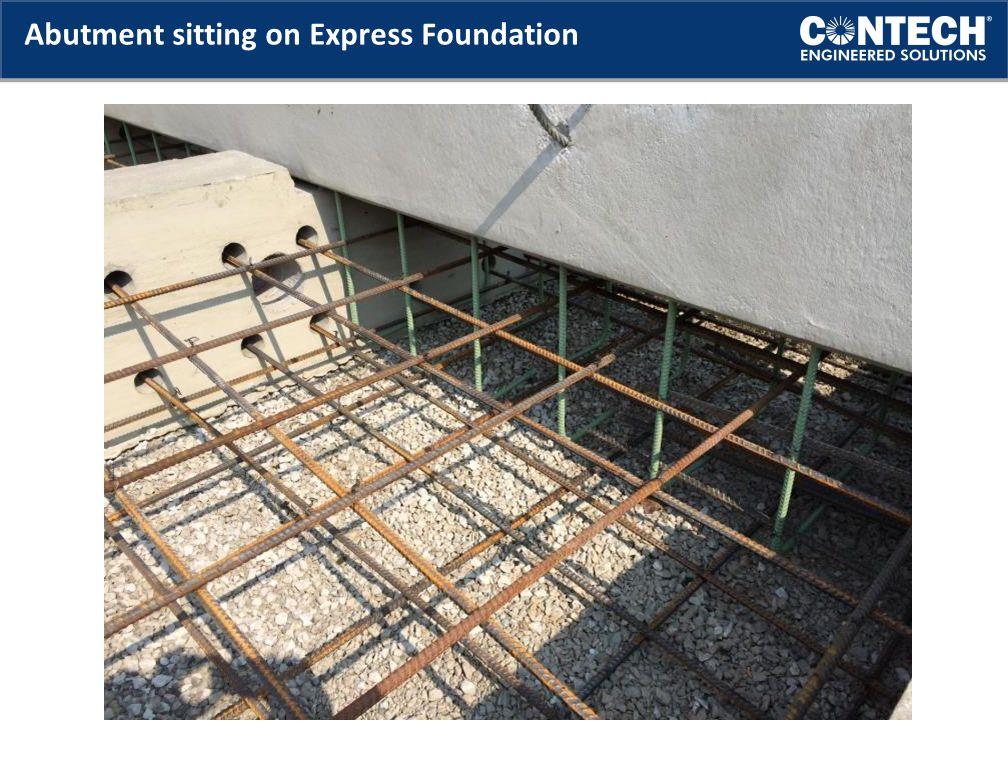Abutment sitting on Express Foundation