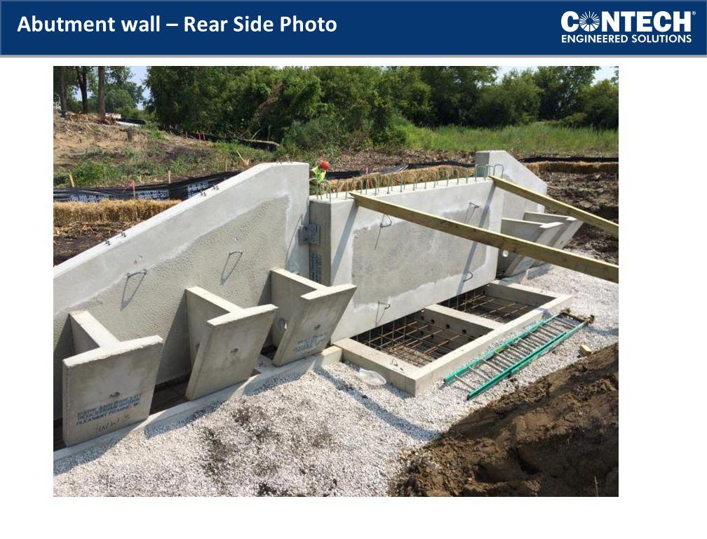 Abutment wall – Rear Side Photo