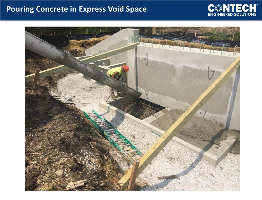 Pouring Concrete in Express Void Space