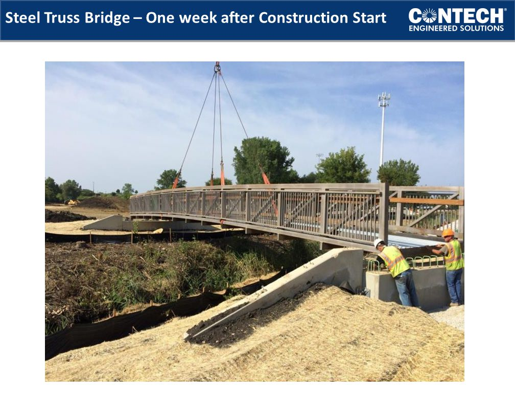 Steel Truss Bridge – One week after Construction Start