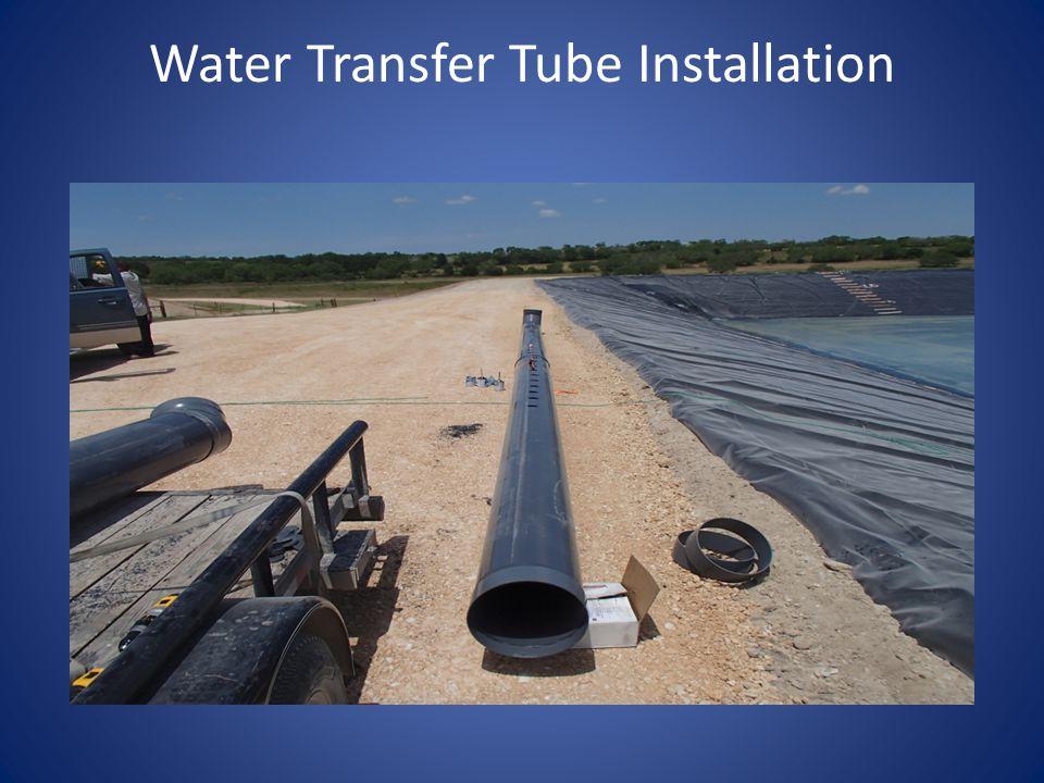 Water Transfer Tube Installation