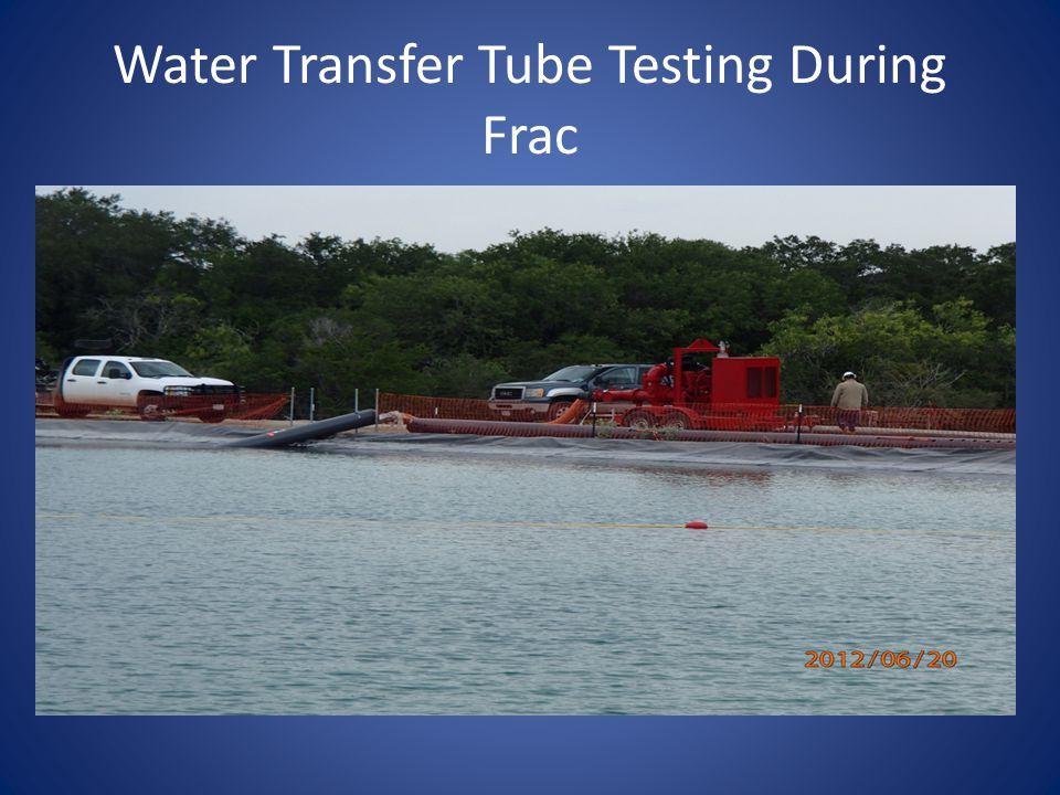 Water Transfer Tube Testing During Frac