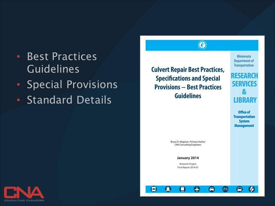 Best Practices Guidelines Special Provisions Standard Details