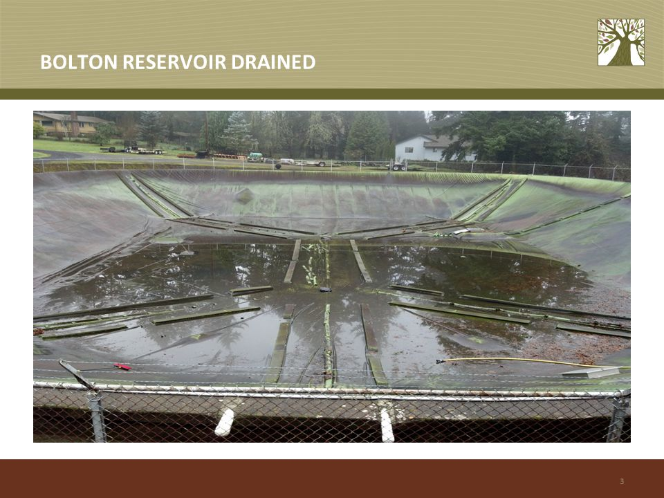 3 BOLTON RESERVOIR DRAINED
