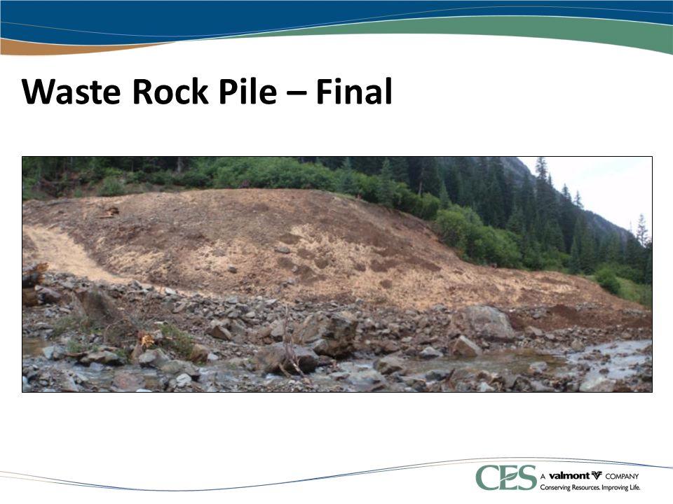 Waste Rock Pile – Final