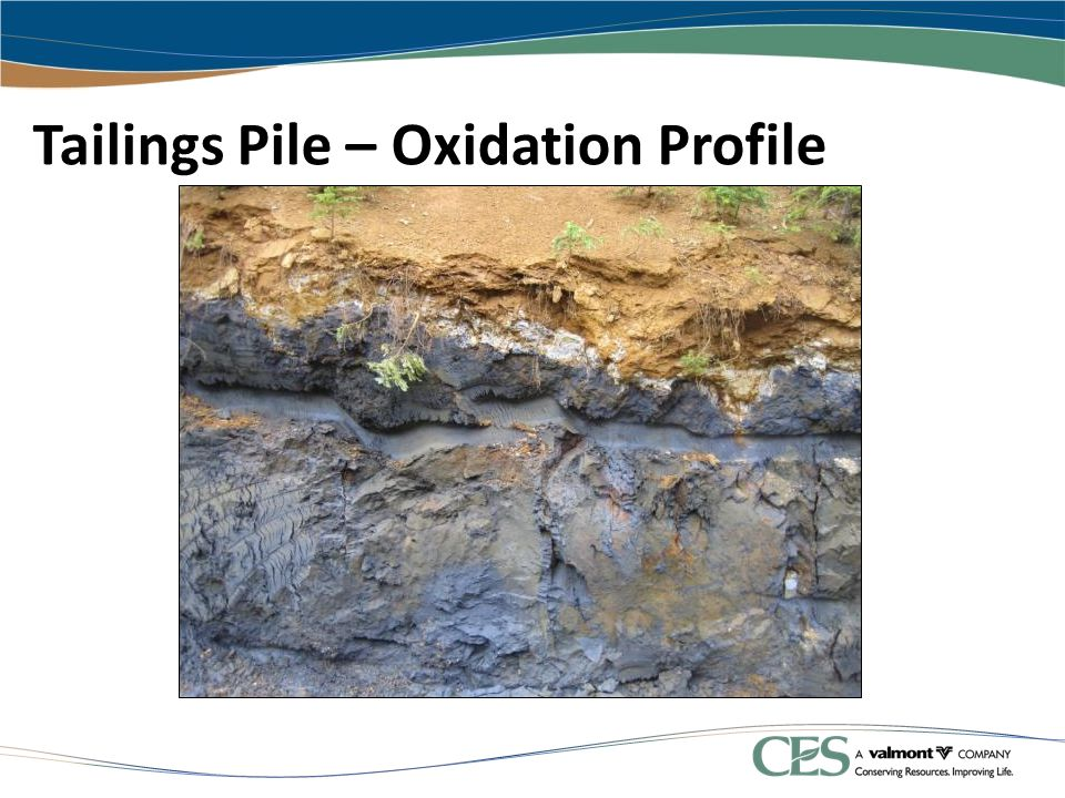 Tailings Pile – Oxidation Profile