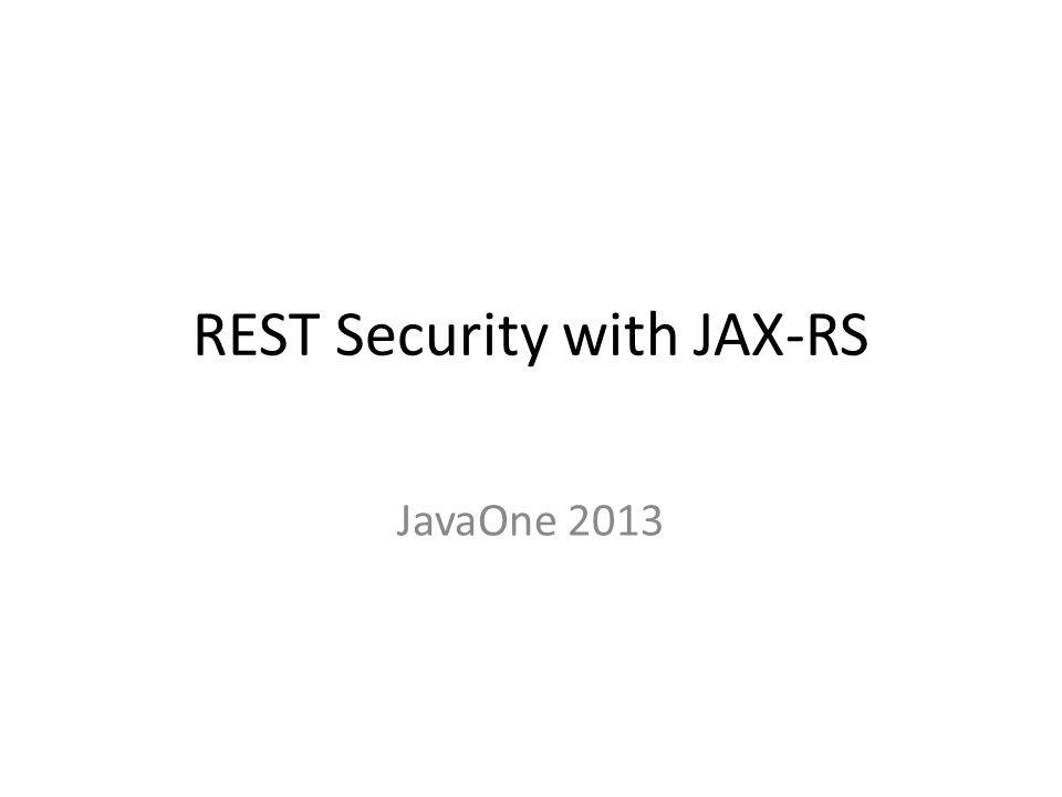 References JAX-RS 2.0 – http://jcp.org/en/jsr/detail?id=339 – https://jax-rs-spec.java.net/nonav/2.0/apidocs OAuth 2.0 Specification – http://tools.ietf.org/html/rfc6749 – http://oauth.net Spring Security OAuth – http://www.springsource.org/spring-security-oauth OAuth: The Big Picture – http://pages.apigee.com/oauth-big-picture-ebook.html OAuth CSRF issues – http://webstersprodigy.net/2013/05/09/common-oauth-issue-you-can-use-to-take-over-accounts – http://stephensclafani.com/2011/04/06/oauth-2-0-csrf-vulnerability OWASP 1-Liner – https://www.owasp.org/index.php/OWASP_1-Liner CSRFGuard – https://www.owasp.org/index.php/Category:OWASP_CSRFGuard_Project – http://ericsheridan.blogspot.com/2010/12/how-csrfguard-protects-ajax.html 62
