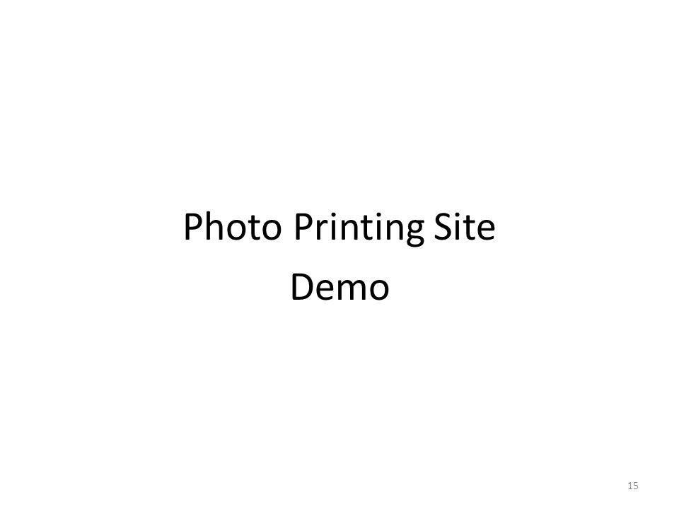 Photo Printing Site Demo 15