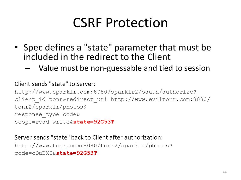 CSRF Protection Spec defines a