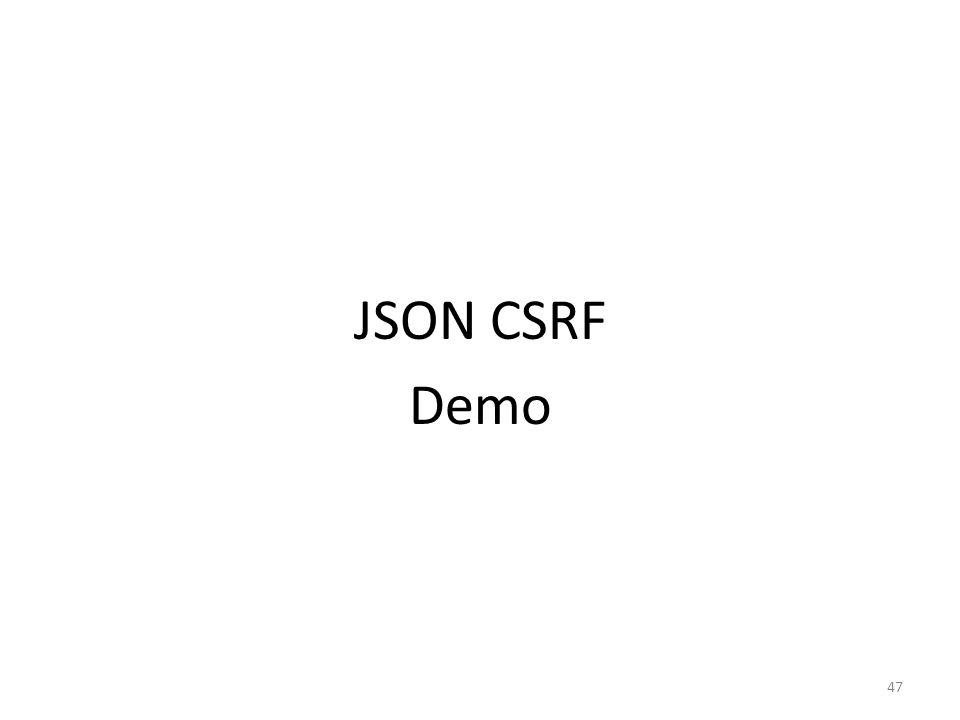 JSON CSRF Demo 47