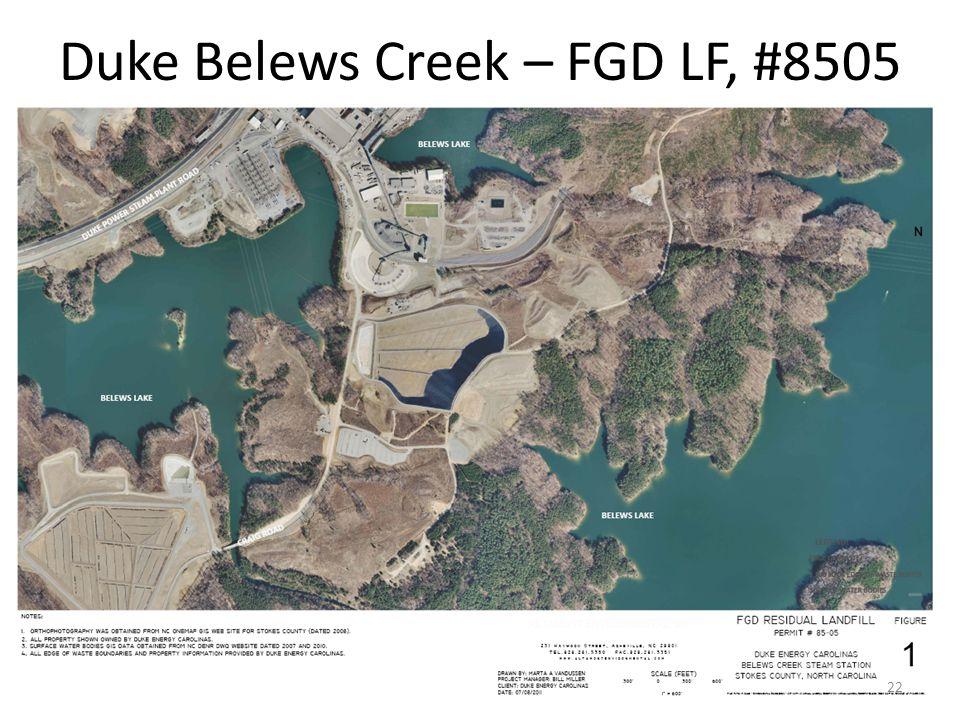 Duke Belews Creek – FGD LF, #8505 22