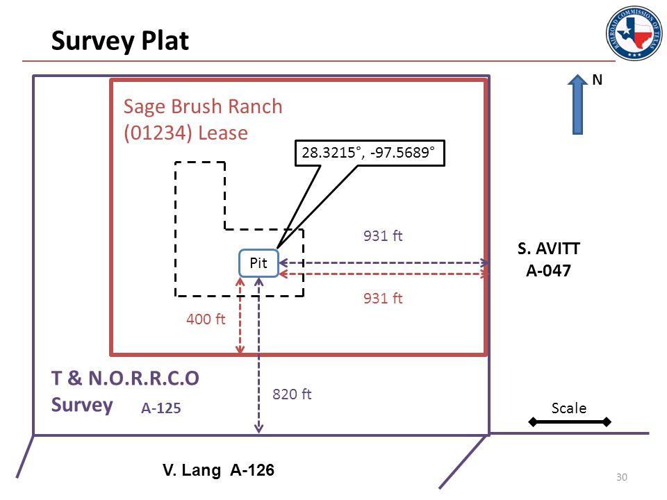 30 A-125 Survey Plat S. AVITT A-047 V.