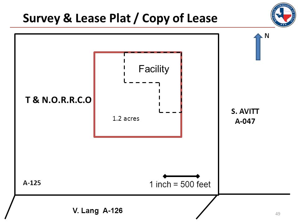 49 Facility A-125 Survey & Lease Plat / Copy of Lease S.