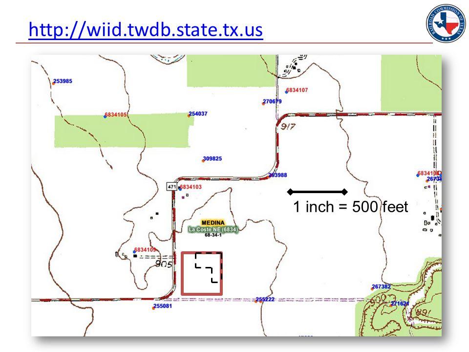 http://wiid.twdb.state.tx.us 53 1 inch = 500 feet