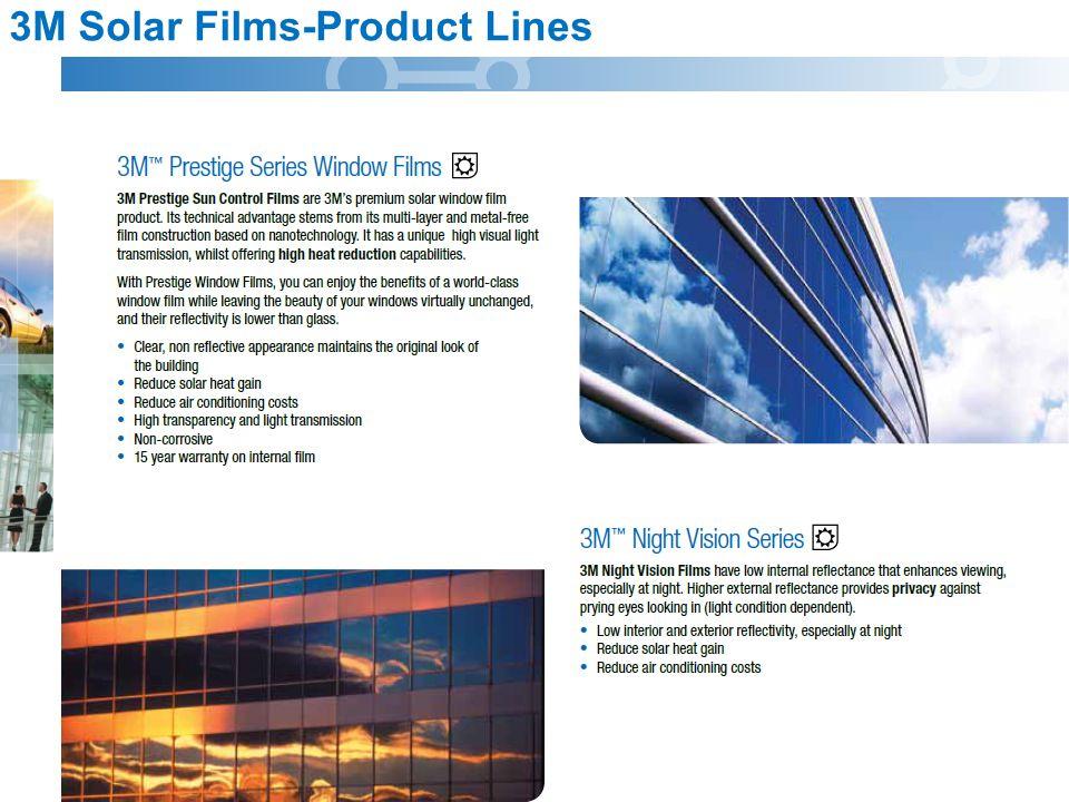 3M Solar Films-Product Lines