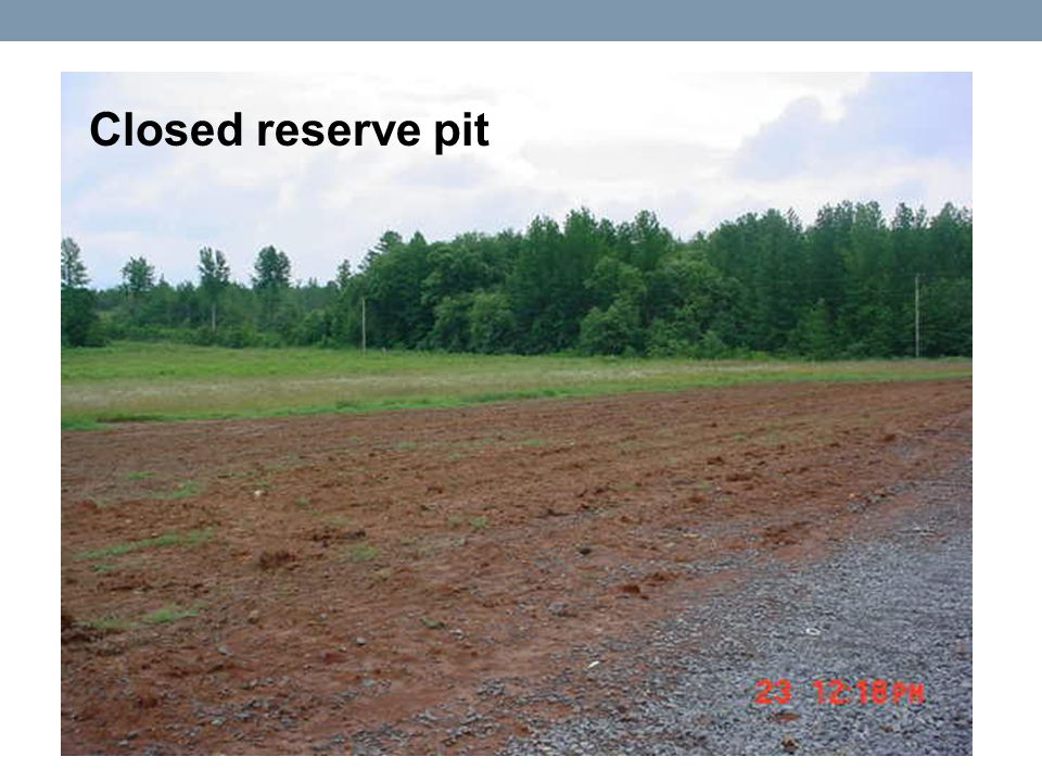 Closed reserve pit