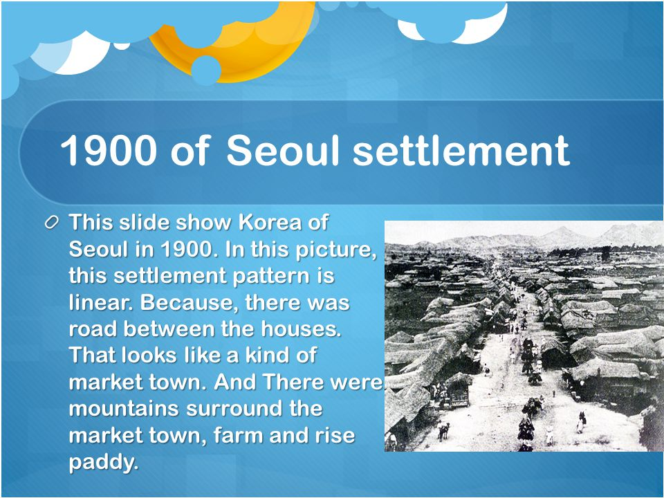 1950 0f Seoul settlement This is slide show Korea of Seoul in 1950.