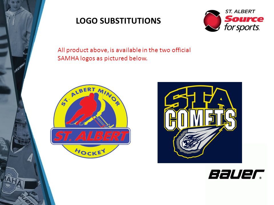 LOGO SUBSTITUTIONS All product above, is available in the two official SAMHA logos as pictured below.