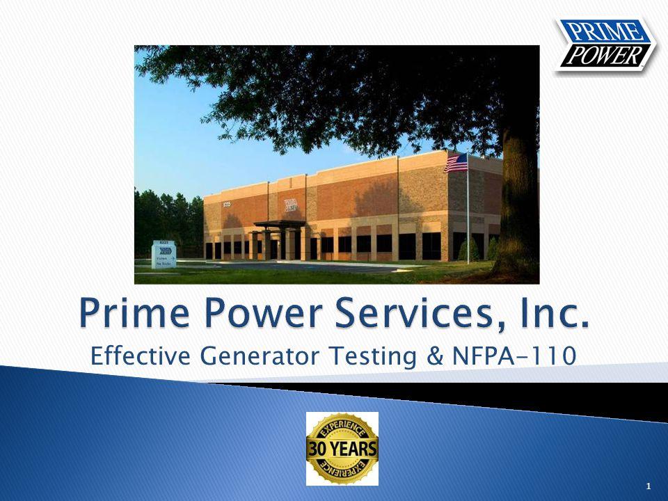 Effective Generator Testing & NFPA-110 1