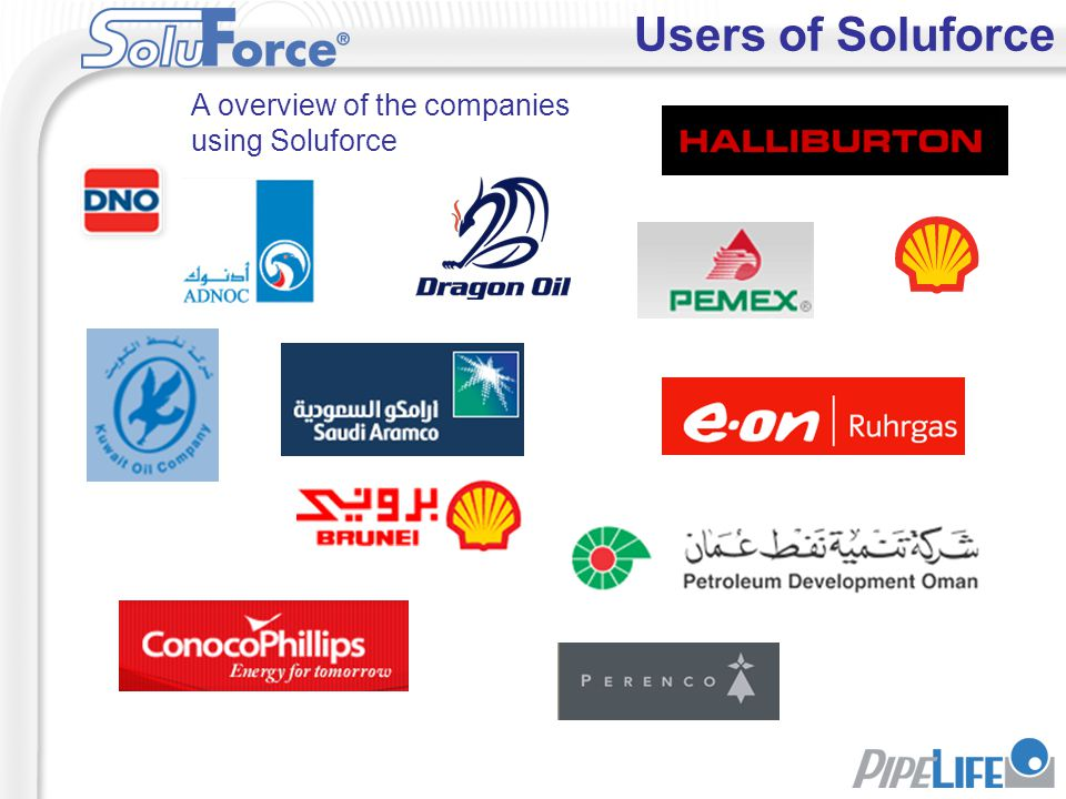 Users of Soluforce A overview of the companies using Soluforce