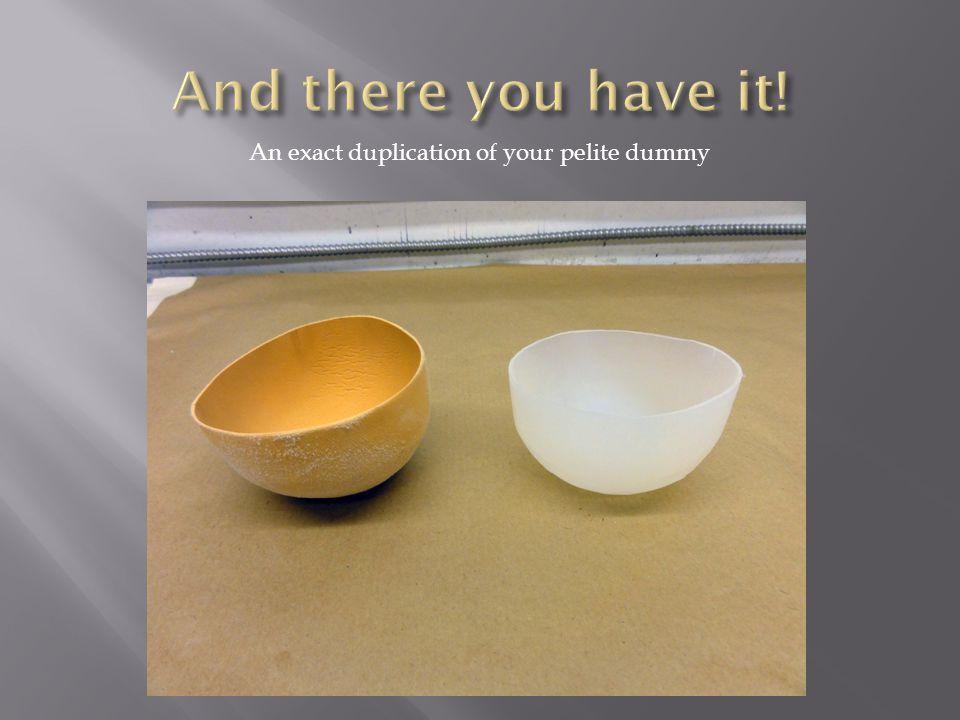 An exact duplication of your pelite dummy