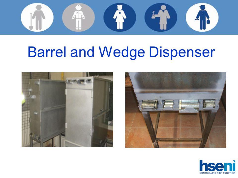 Barrel and Wedge Dispenser