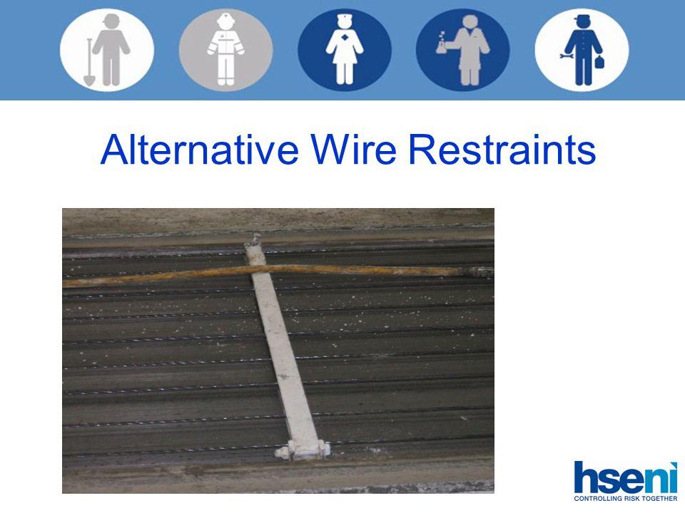 Alternative Wire Restraints