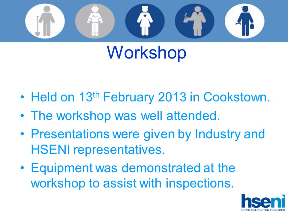 Workshop Held on 13 th February 2013 in Cookstown.