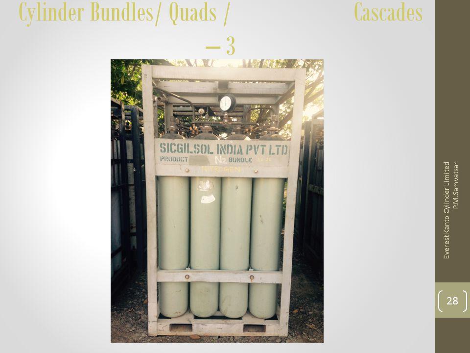Cylinder Bundles/ Quads / Cascades – 3 Everest Kanto Cylinder Limited P.M.Samvatsar 28