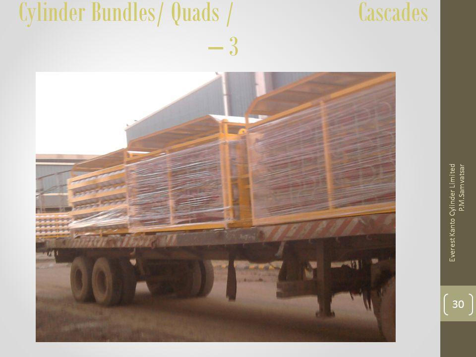 Cylinder Bundles/ Quads / Cascades – 3 Everest Kanto Cylinder Limited P.M.Samvatsar 30