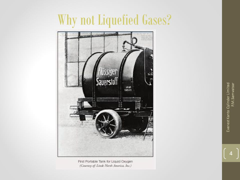 Why not Liquefied Gases? Everest Kanto Cylinder Limited P.M.Samvatsar 4