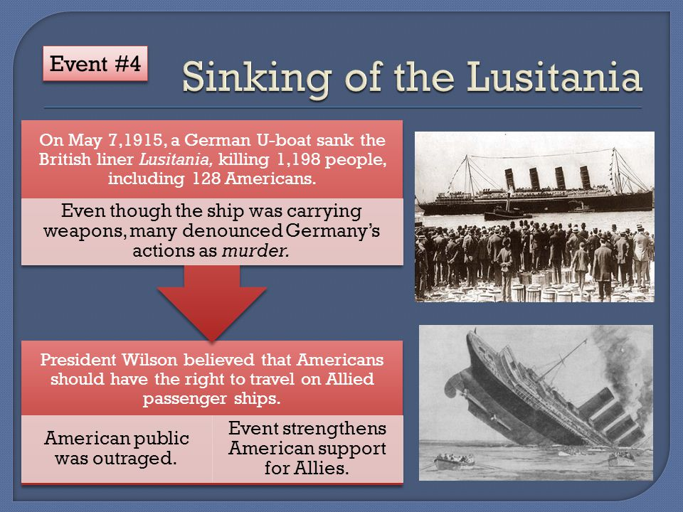 President Wilson believed that Americans should have the right to travel on Allied passenger ships.