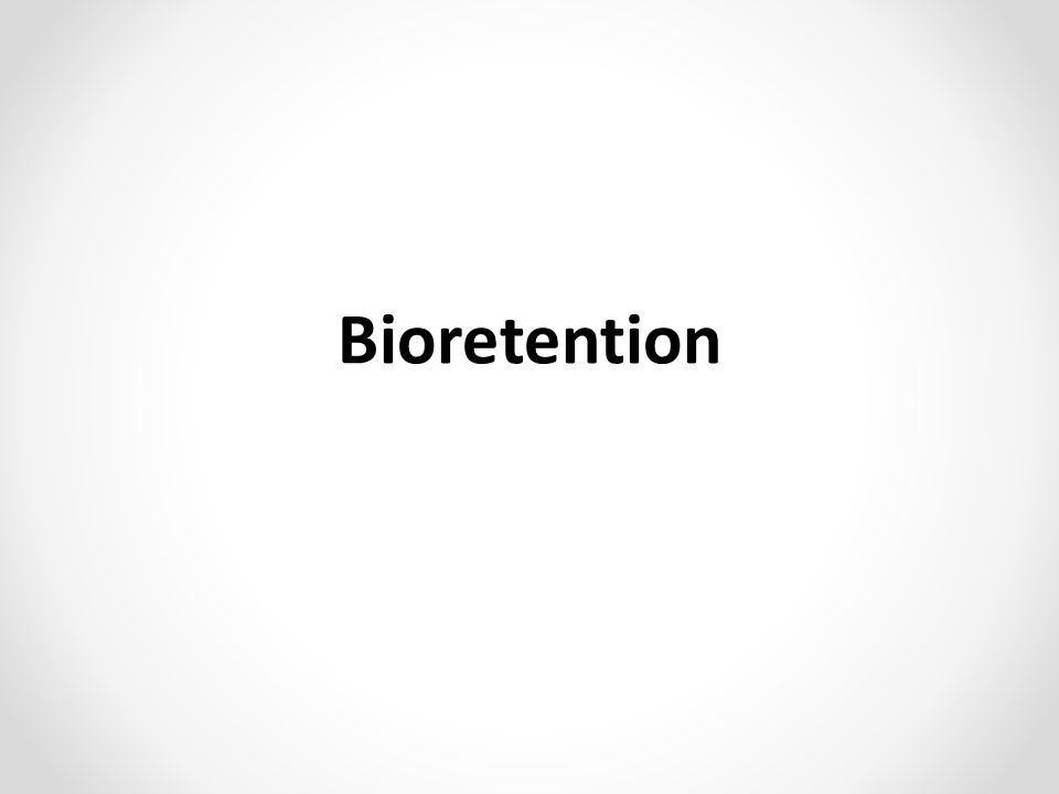Bioretention