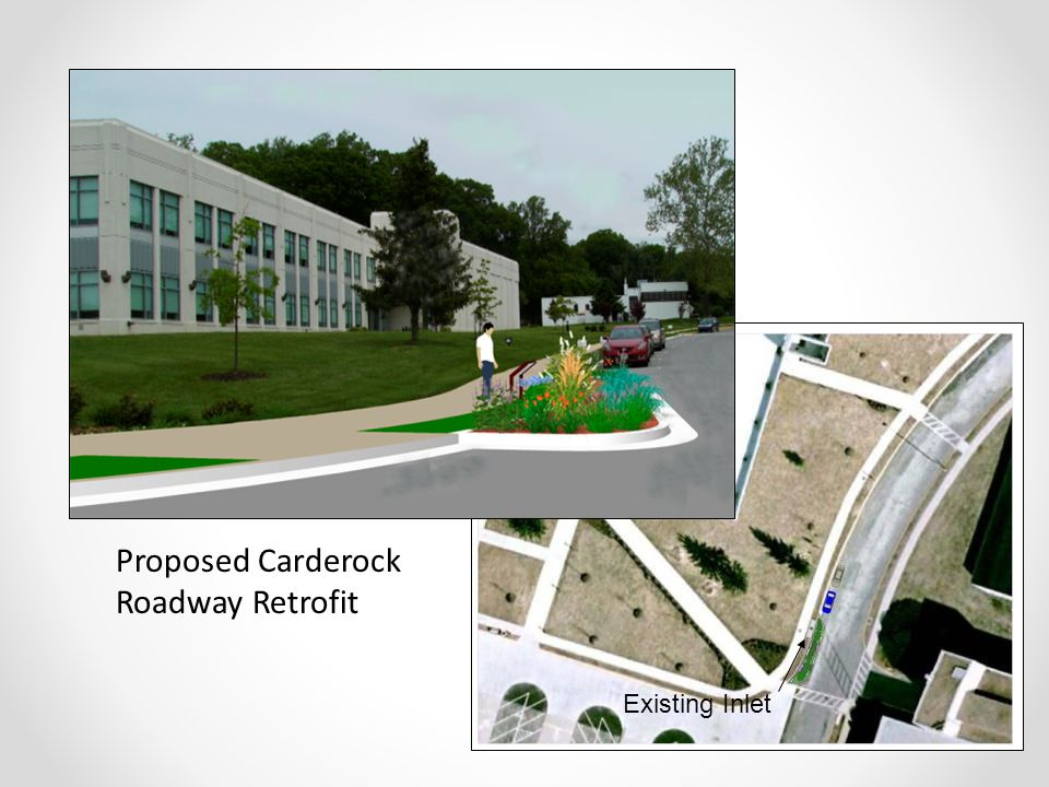 Proposed Carderock Roadway Retrofit Existing Inlet