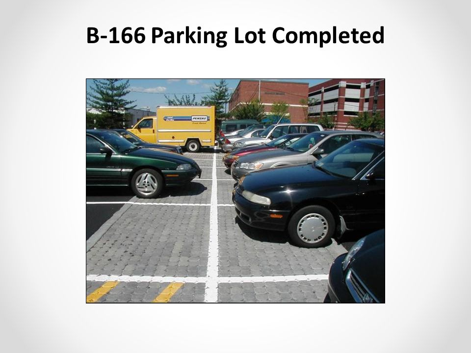 B-166 Parking Lot Completed