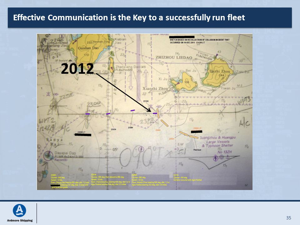 35 Effective Communication is the Key to a successfully run fleet 2012