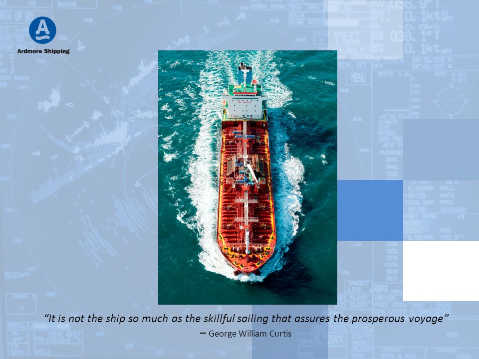 """""""It is not the ship so much as the skillful sailing that assures the prosperous voyage"""" – George William Curtis"""