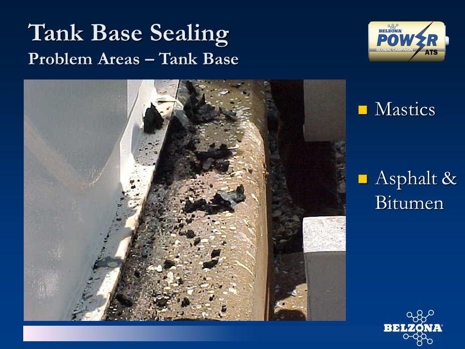 Tank Base Sealing Problem Areas – Tank Base Asphalt & Bitumen Asphalt & Bitumen Mastics Mastics