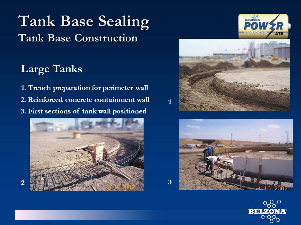 Storage Tank Base Associated Problems No grout or sealing measuresFailed grout Tank Base Sealing